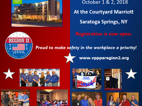 Planning on attending the Region II VPP Fall Safety Forum in Saratoga Springs, NY?