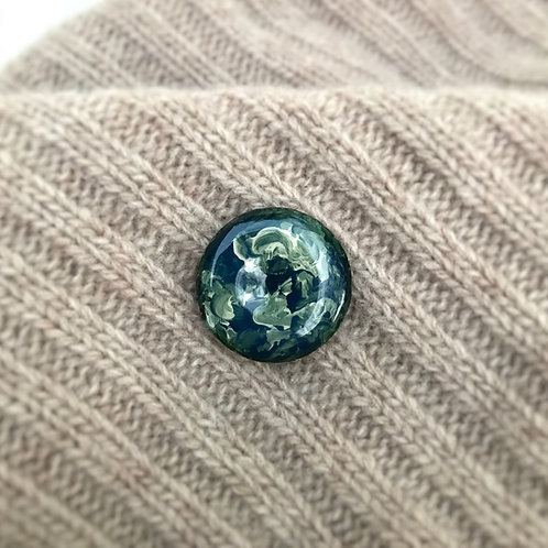 Olive Green Celestial Pin