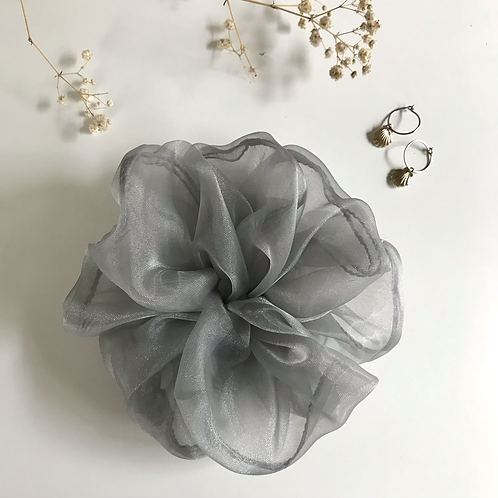 Grey Organza