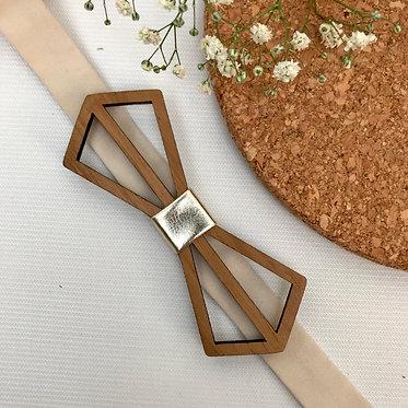 Diamond Frame Wooden Bow Tie