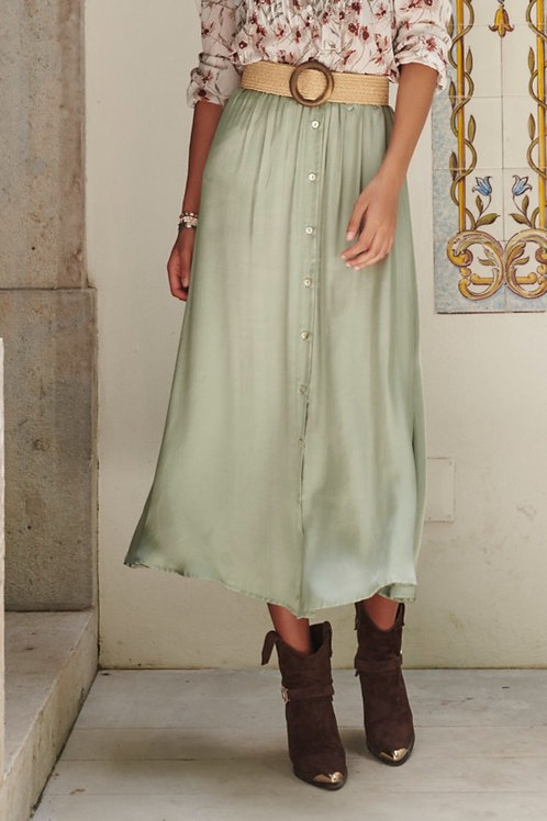 Rok midi lang Light Green