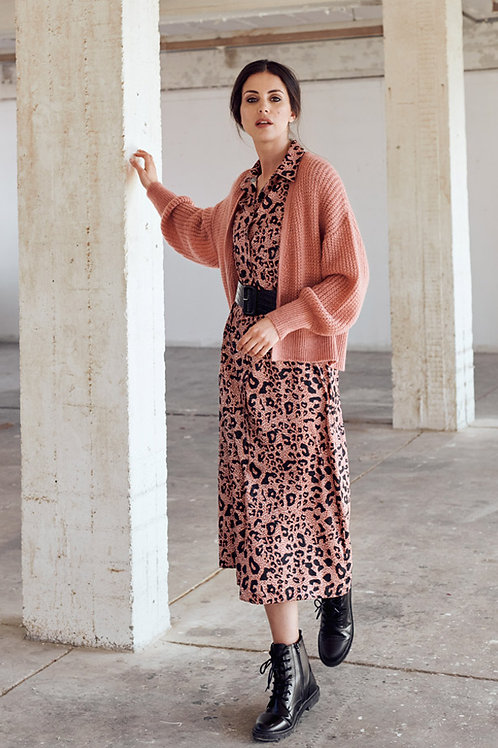 Lang kleed in Leopard Signe Nature