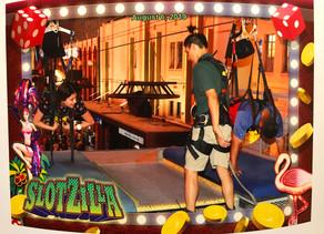 Having fun at the Slotzilla ZipLine