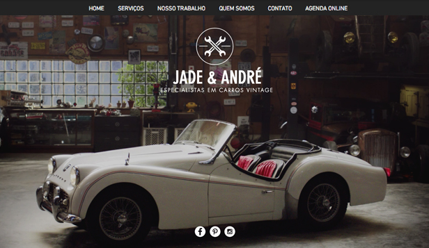 Automotivos website templates – Carros Vintage