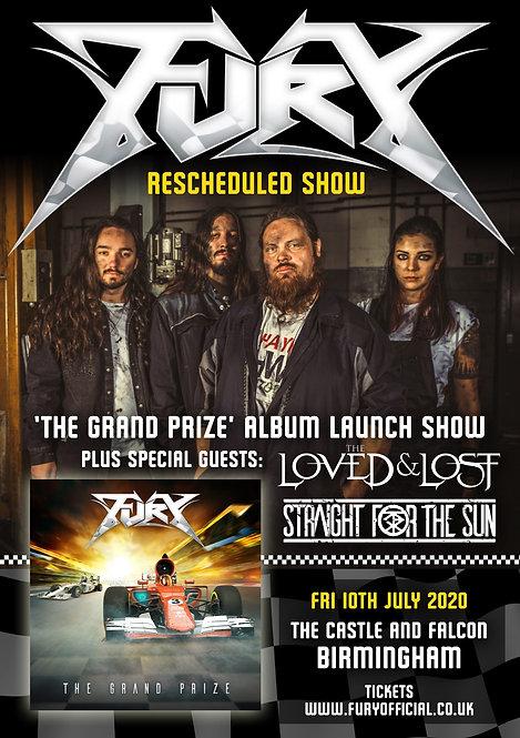 RESCHEDULED! Ticket: Fury Album Launch, Birmingham - 10th July 2020