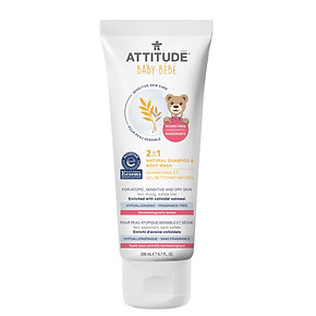 ATTITUDE Baby 2-in-1 Natural Shampoo & Body Wash Fragrance-free 嬰幼兒天然燕麥2合1洗髮沐浴乳