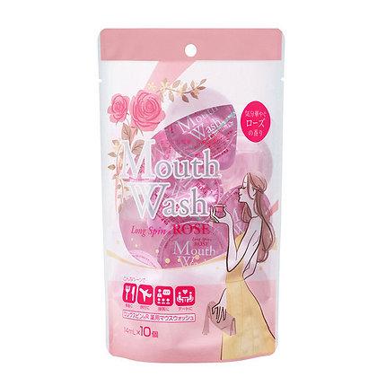 Mouthwash Long Spin -Rose 14mL 10pcs Pack 便攜顆粒裝漱口水 -玫瑰薄荷味 14mL X 10粒