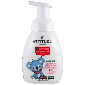ATTITUDE Baby 3-in-1 Shampoo Fragrance Free 嬰幼兒3合1洗護 無味 300mL