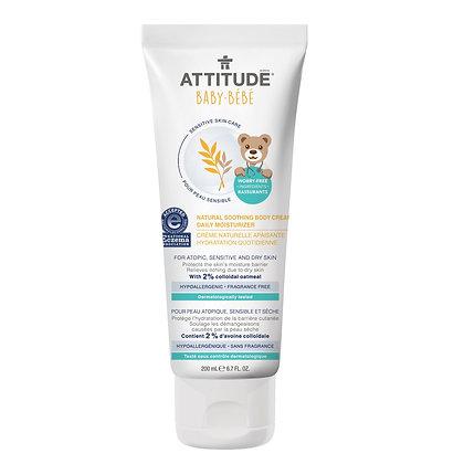 ATTITUDE Baby Natural Soothing Body Cream Fragrance-free 嬰幼兒天然燕麥身體舒緩滋潤霜 無香