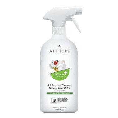 ATTITUD 天然99.9%消毒劑 百里香和柑橘香型 800mL
