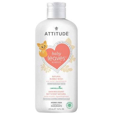 ATTITUDE Baby Leaves Bubble Wash Pear Nectar 473ML