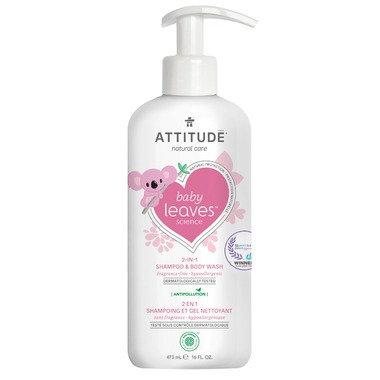 ATTITUDE Baby Leaves 2-in-1 Shampoo Fragrance Free 嬰孩二合一洗髮及沐浴露 無香味 473mL
