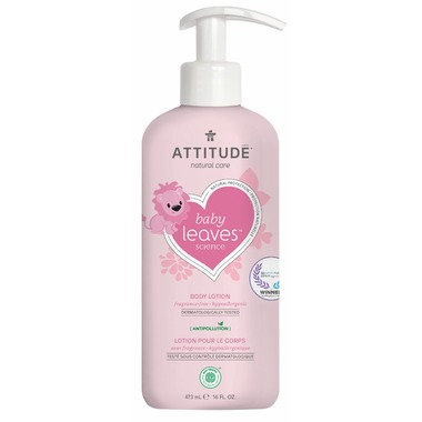 ATTITUDE Baby Leaves Body Lotion Fragrance Free 天然嬰孩身體乳 無香味味 473 mL