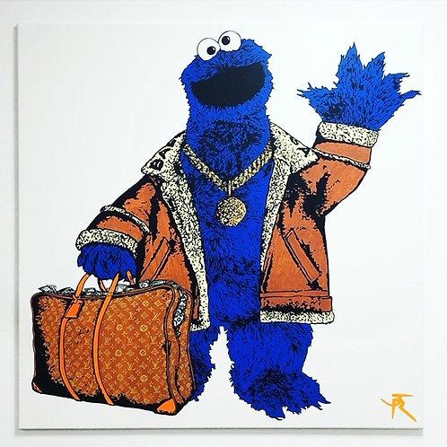Tableau sur toile de JR Artiste Monster cookie de face