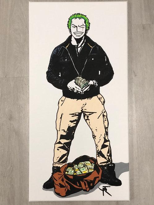 Tableau sur toile de JR Artiste représentant zozo qui flex de face