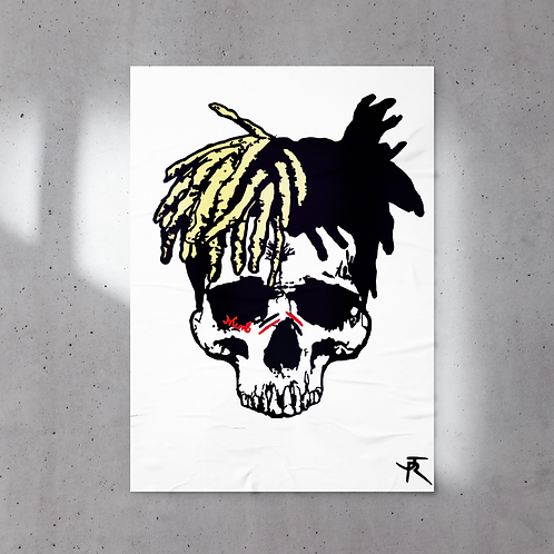 Poster 60x80 cm XXX TENTACION SKULL