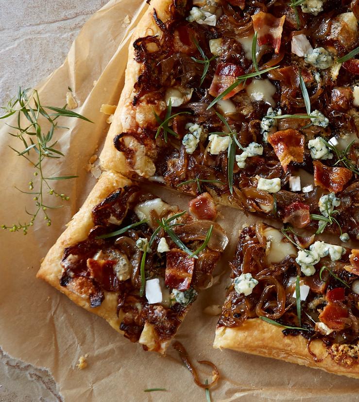 Carmelized Onion Bacon Tart