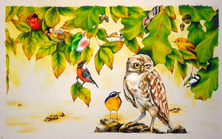 Bird-Triptic