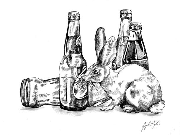 Bunny Loves Bubbly