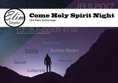 18.11.2017 Come Holy Spirit Night