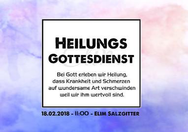 18.02.2018 Heilungsgottesdienst