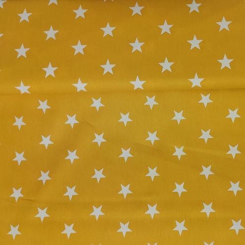 Popelina Estrellas mostaza