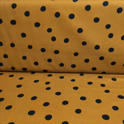 French Terry DOTS mostaza ocre