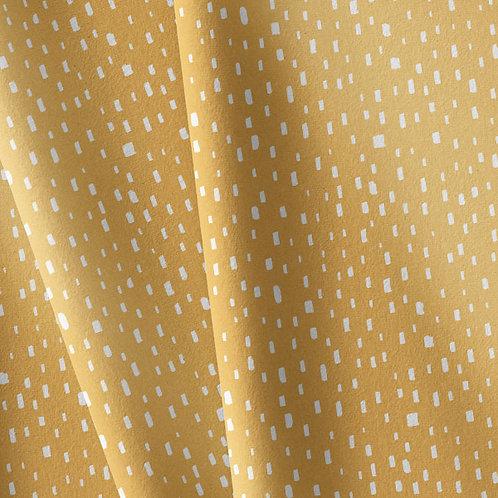 Punto algodón Pinceladas mostaza