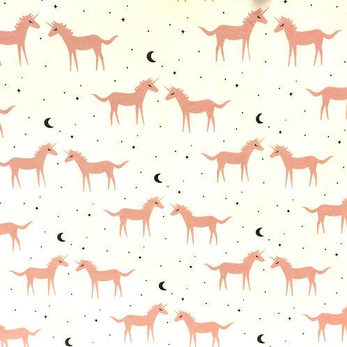 Punto algodón unicornios luna