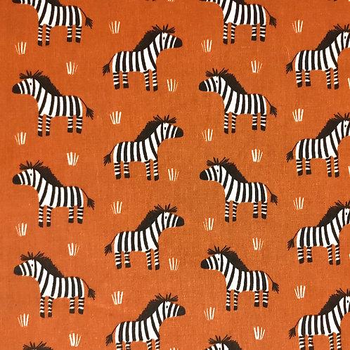 Popelín Zebra ladrillo