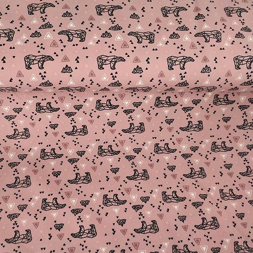Punto jersey Oso montañas rosa