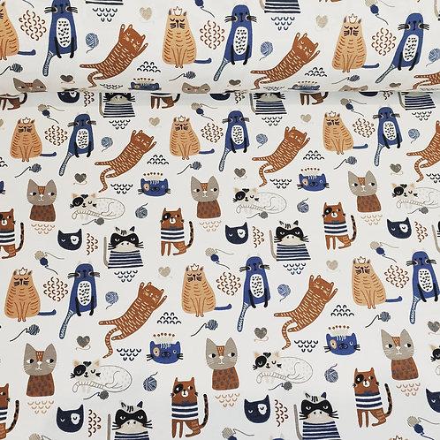 Punto algodón Gatitos