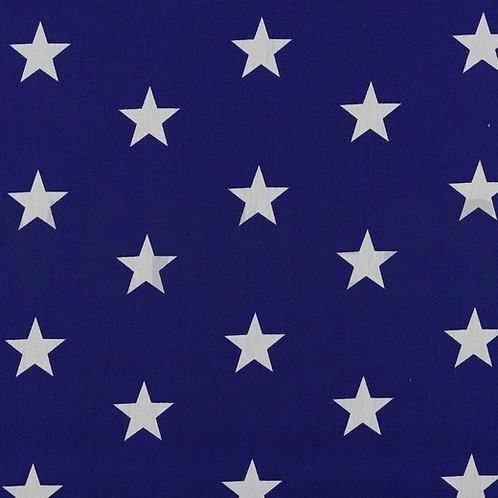 Popelina Estrellas cobalto