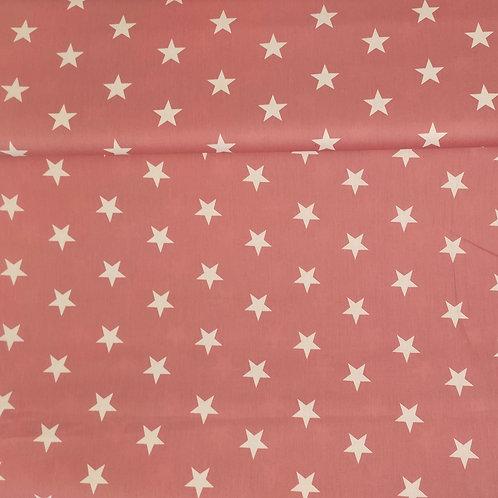 Popelina Estrellas rosa