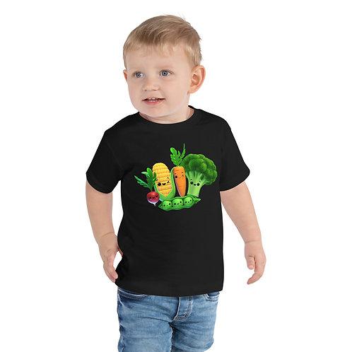Toddler Short Sleeve Tee - Funky Veggies