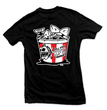 "T-Shirt Black ""Bucket"" Without Pocket"