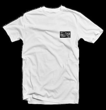 Kill Fish CompanyCirlce Logo Theme Fishing T-Shirt (White)