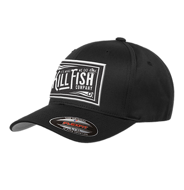Kill Fish Vintage Logo Theme Flexfit Hat Black