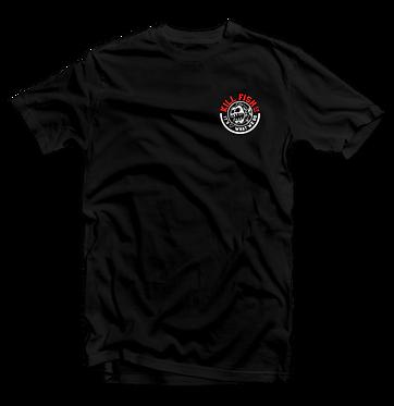 Kill Fish Company Circle Logo Theme Fishing T-Shirt (Black)