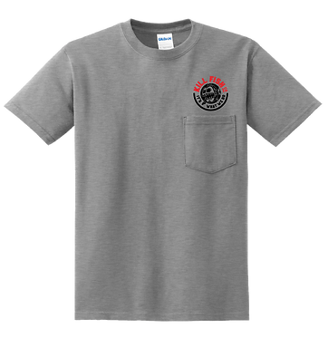 """T-Shirt Ash """"Round"""" With Pocket"""