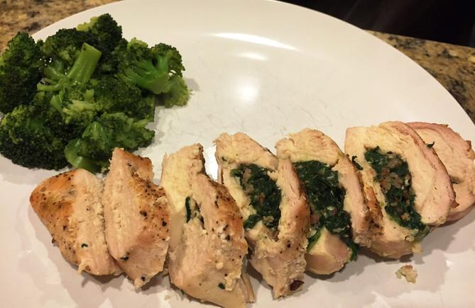 Kale Stuffed Chicken