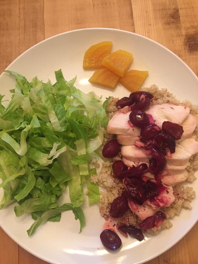 Chicken & Quinoa with Cherry Salsa