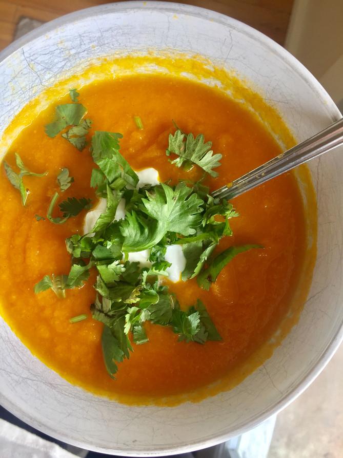 Carrot, Ginger, Lime Soup