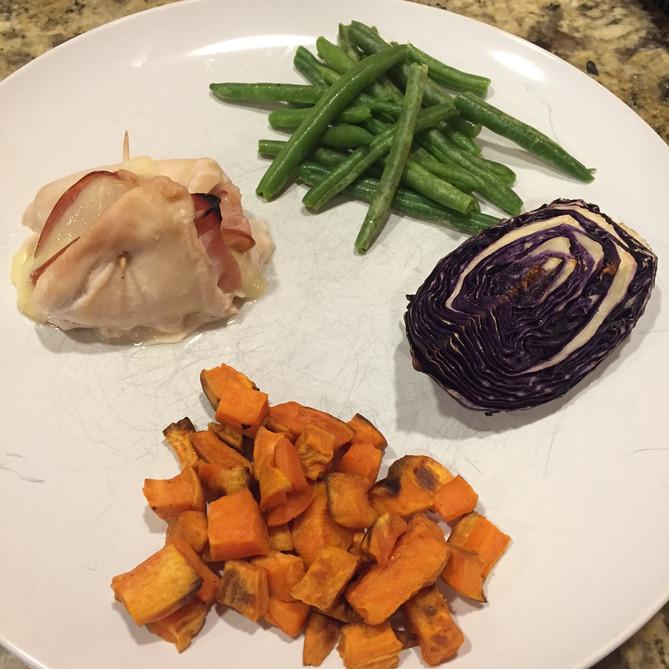 Healthy Chicken Cordon Bleu