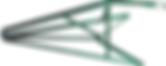 BF representações tem AFASTADOR DE CANTO * Fabricado em aço Ø3/8'' e cantoneira 1'' x 1/8'' * Usado em balancim suspenso 72cm e 90cm