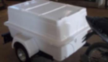 Carretinha para Moto até 8 caixas de mercado MINIMUM SX BÁSICO