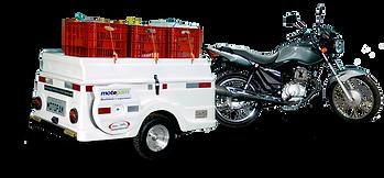 Carretinha para Moto Capacidade 200 Kg, 8 caixas dentro, mais 3 sobre a tampa