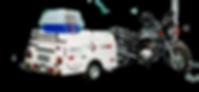 Carretinha para Moto Pet Shop 2T