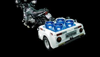 Carretinha para Moto Capacidade 200 Kg, SEM TAMPA / COM GRADE / SEM ESTEPE