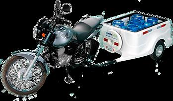 Carretinha para Moto 5 botijões de gás P-13.